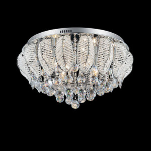 Ideal Lux - Diamonds - MOZART PL8 - Ceiling lamp - Chrome - LS-IL-073613