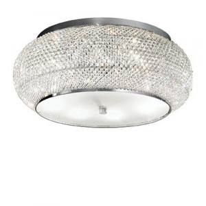 Ideal Lux - Diamonds - Pasha' PL10 - Ceiling lamp with crystal beads - Chrome - LS-IL-100746