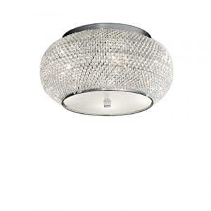 Ideal Lux - Diamonds - Pasha' PL6 - Ceiling lamp with crystal beads - Chrome - LS-IL-100784