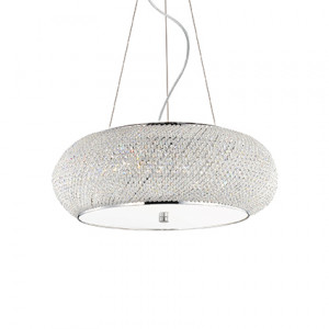 Ideal Lux - Diamonds - Pasha' SP10 - Pendant lamp with crystal beads - Chrome - LS-IL-082196