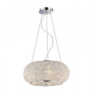 Ideal Lux - Diamonds - Pasha' SP6 - Pendant lamp with crystal beads - Chrome - LS-IL-082158