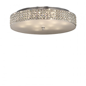 Ideal Lux - Diamonds - Roma PL12 - 12-lights ceiling lamp with crystals - Chrome - LS-IL-087870