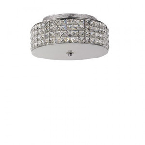 Ideal Lux - Diamonds - Roma PL4 - 4-lights ceiling lamp with crystals - Chrome - LS-IL-093093