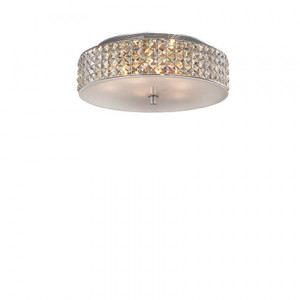 Ideal Lux - Diamonds - Roma PL6 - 6-lights ceiling lamp with crystals - Chrome - LS-IL-000657