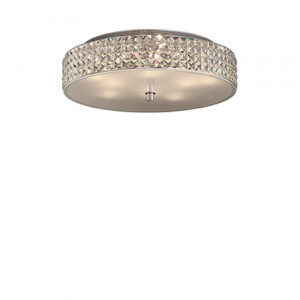 Ideal Lux - Diamonds - Roma PL9 - 9-lights ceiling lamp with crystals - Chrome - LS-IL-087863