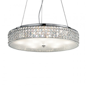 Ideal Lux - Diamonds - Roma SP12 - Circular diffuser with crystals suspension - Chrome - LS-IL-093062