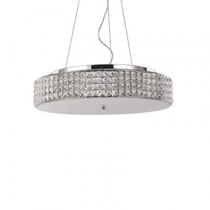 Ideal Lux - Diamonds - Roma SP9 - 9-lights suspension with  circular diffuser - Chrome - LS-IL-093048