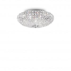 Ideal Lux - Diamonds - Virgin PL5 - Five-lights ceiling lamp - Chrome - LS-IL-018089