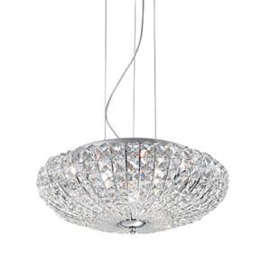 Ideal Lux - Diamonds - Virgin SP6 - Six-lights suspension lamp - Chrome - LS-IL-023328