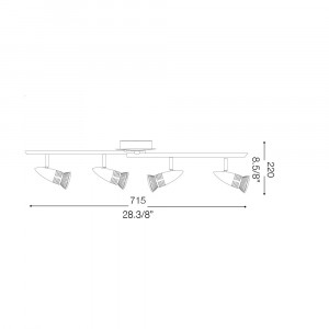 Ideal Lux - Direction - ALFA PB4 - Ceiling lamp
