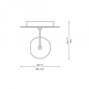 Ideal Lux - Direction - LUNARE AP1 - Applique