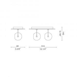 Ideal Lux - Direction - LUNARE AP2 - Applique