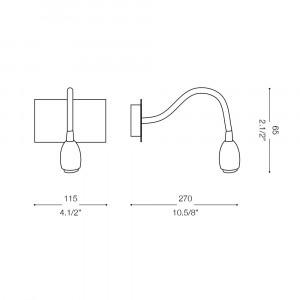 Ideal Lux - Direction - ORSON AP1 - Applique