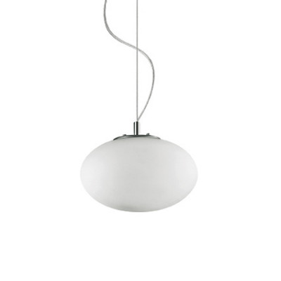 Ideal Lux - Eclisse - Candy SP1 D25 - Pendant lamp with blown glass diffuser - White - LS-IL-086729