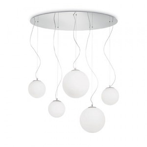 Ideal Lux - Eclisse - MAPA SP5 - Pendant lamp with 5 shperical diffusers