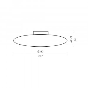 Ideal Lux - Eclisse - SMARTIES CLEAR PL1 D33 - Ceiling lamp