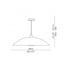 Ideal Lux - Essential - LANA SP1 D60 - Pendant lamp