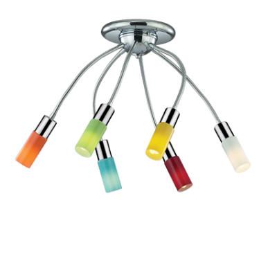 Ideal Lux - Fun - ECOFLEX PL6 - Ceiling lamp - Multicolor - LS-IL-044538