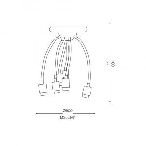 Ideal Lux - Fun - ECOFLEX PL6 - Ceiling lamp