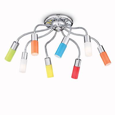 Ideal Lux - Fun - ECOFLEX PL8 - Ceiling lamp - Multicolor - LS-IL-044545