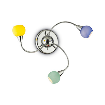 Ideal Lux - Fun - TENDER PL3 - Ceiling / wall lamp - Multicolor - LS-IL-006543