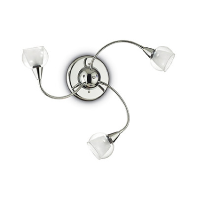 Ideal Lux - Fun - TENDER PL3 - Ceiling / wall lamp - Transparent - LS-IL-028682