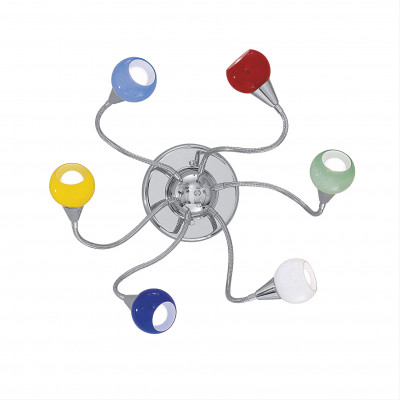 Ideal Lux - Fun - TENDER PL6 - Wall / ceiling lamp - Multicolor - LS-IL-006550
