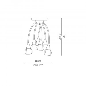 Ideal Lux - Fun - TENDER PL6 - Wall / ceiling lamp