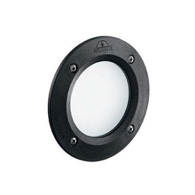 Ideal Lux - Garden - Leti Round FI1 - Circular recessed lamp in resin - Black - LS-IL-096551