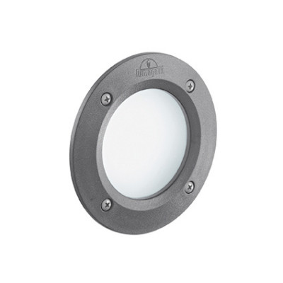 Ideal Lux - Garden - Leti Round FI1 - Circular recessed lamp in resin - Grey - LS-IL-096568