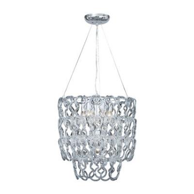 Ideal Lux - Glass - ALBA SP7 - Pendant lamp - Chrome - LS-IL-020365
