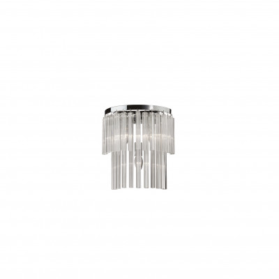 Ideal Lux - Glass - ELEGANT AP3 - Wall mounting applique - Chrome - LS-IL-027975