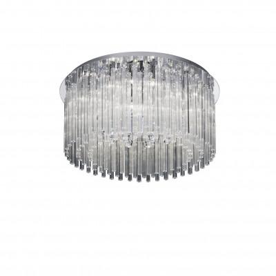 Ideal Lux - Glass - ELEGANT PL12 - Ceiling lamp - Chrome - LS-IL-019468