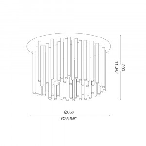 Ideal Lux - Glass - ELEGANT PL12 - Ceiling lamp
