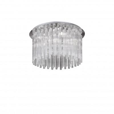 Ideal Lux - Glass - ELEGANT PL8 - Ceiling lamp - Chrome - LS-IL-019451