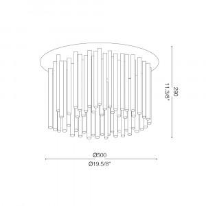 Ideal Lux - Glass - ELEGANT PL8 - Ceiling lamp