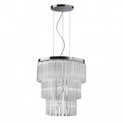 Ideal Lux - Glass - ELEGANT SP12 - Pendant lamp - Chrome - LS-IL-026695