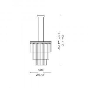 Ideal Lux - Glass - ELEGANT SP12 - Pendant lamp