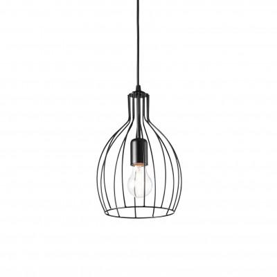 Ideal Lux - Industrial - Ampolla-2 SP1 - Pendant lamp - Black - LS-IL-148151