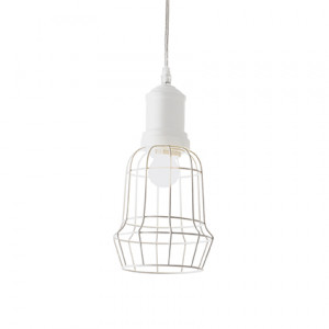 Ideal Lux - Industrial - Cage SP1 Square - Pendant lamp