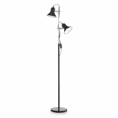 Ideal Lux - Industrial - POLLY PT2 - Floor lamp - Black - LS-IL-061139