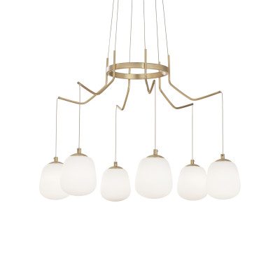 Ideal Lux -  - Karousel SP6 LED - Chandelier with six lights - None - LS-IL-206387 - Diffused