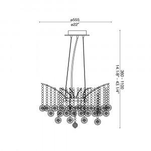 Ideal Lux - Luxury - AUDI-77 SP6 - Crystal chandelier