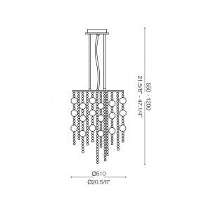 Ideal Lux - Luxury - EVASIONE SP10  - Pendant lamp
