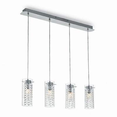 Ideal Lux - Luxury - IGUAZU' SP4 - Pendant lamp - Chrome - LS-IL-052373