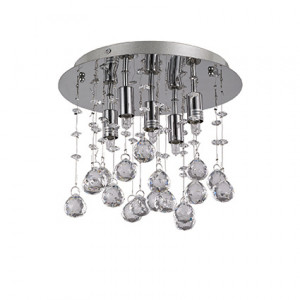 Ideal Lux - Luxury - Moonlight PL5 - Ceiling lamp with crystal pendants