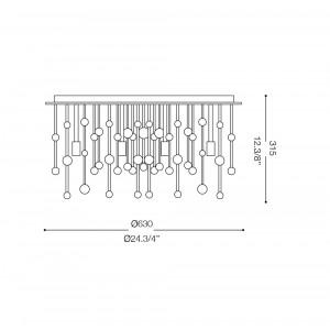 Ideal Lux - Luxury - NEVE PL12 - Ceiling lamp