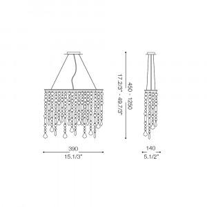 Ideal Lux - Luxury - RAIN SP3 - Pendant lamp
