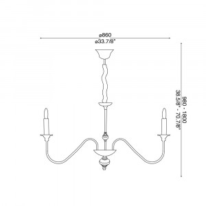 Ideal Lux - Middle Ages - ARTU' SP12 - Pendant lamp
