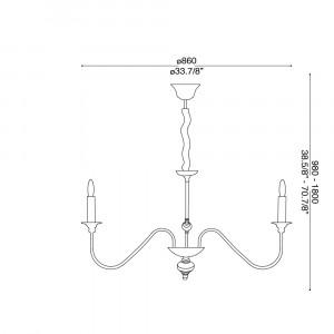 Ideal Lux - Middle Ages - ARTU' SP8 - Pendant lamp